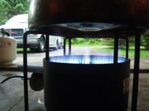 Banjo burner boil kettle