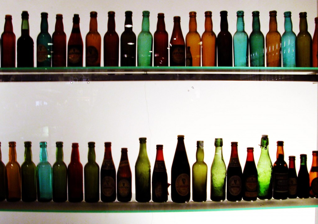 Lots of colored bottles