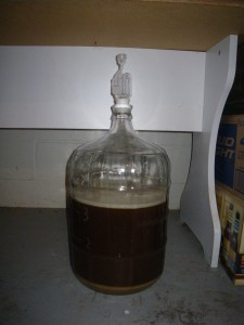 Beer in a clear carboy
