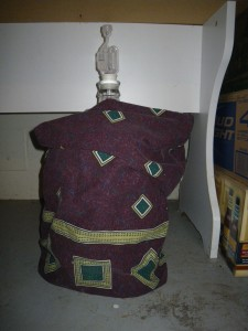 Beer safe and cozy under my homemade carboy cover