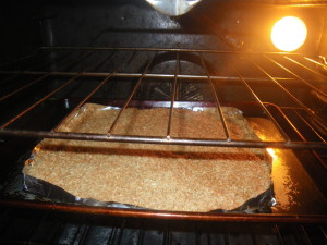 Coconut in the oven