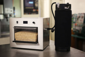 The Picobrew Zymatic displayed fully assembled