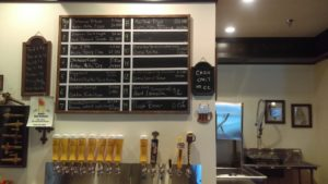 Tap selection at Lazy Monk Brewing