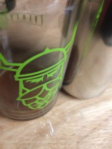 Hop Viking Glass & Homebrew in a Can
